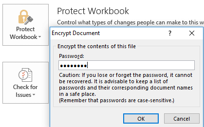 unProtect excel Workbook Encrypt Document